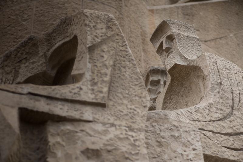 La Sagrada Familia - Passion Facade Detail