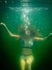 Krista under water