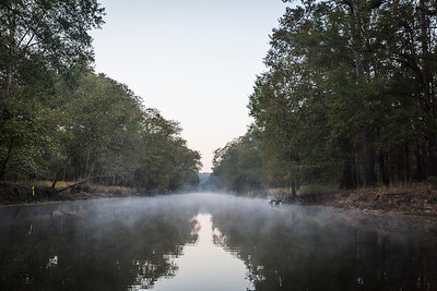 Early morning sunrise entering the swamps of Caddo Lake