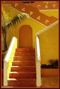 Yellow Stairs Tijuana Mexico