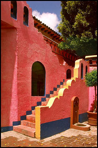Pink and Blue Stairs