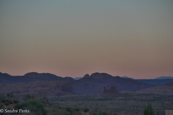 Crack of dawn at Arches