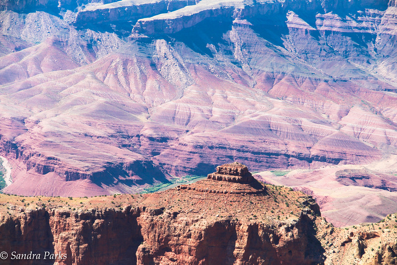 6-25-16: A very Grand Canyon indeed. Our first sight of it  -- and thanks to some very good advice, well away from all of the other tourists and yammering children.