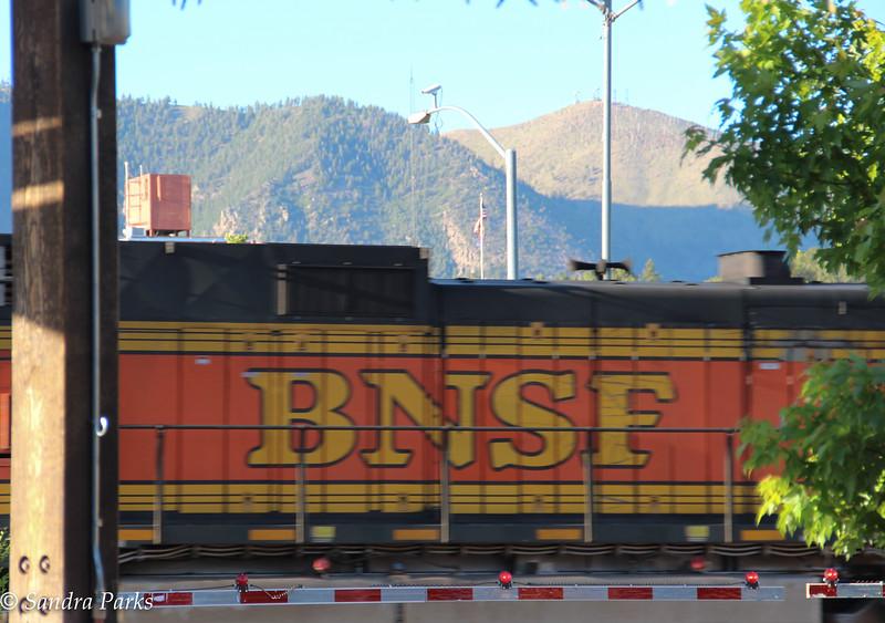 Flagstaff ... where the trains come through often