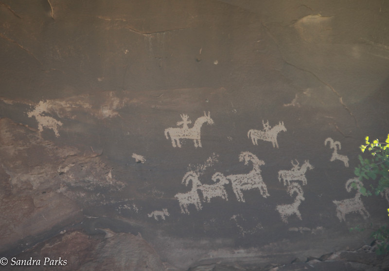 Cliff drawings, UTE Indians, Arches