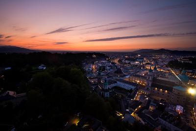 Sunset Over Central Salzburg