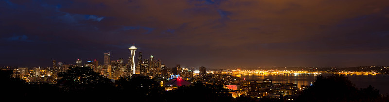 Seattle Night Spaceneedle [8 shots]