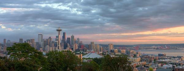 Seattle Sunset Panoramic Crop