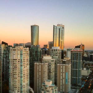 Standing above the crowd. #yvr #VanCity #sunset #colors #skyscrapers #LittleBigWorld