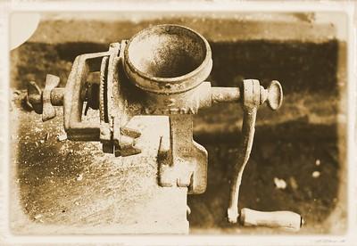 Antique Coffee Grinder, San Sebastion de Oeste, Mexico (sepia)