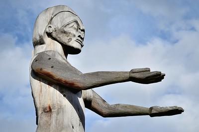 Hupacasath First Nations welcoming figure, Port Alberni B.C.