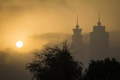Sunrise over a portion of Dubai