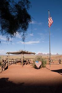 Een leuke lodge in Monument Valley... echt een aanrader! Vanaf je bed een prachtig vergezicht!