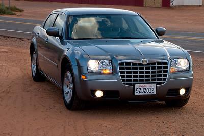 Onze stoere Chrysler 300.... stiekum waren we er toch erg trots op.