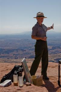 Ranger vertelt over de oorsprong van de vallei.