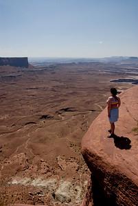 Jolanda vond het niet eng.... het gaat tenslotte 'maar' 600m recht naar beneden...