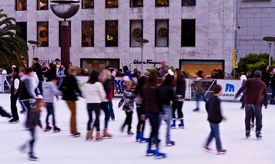 The skating rink in front of Macy's.