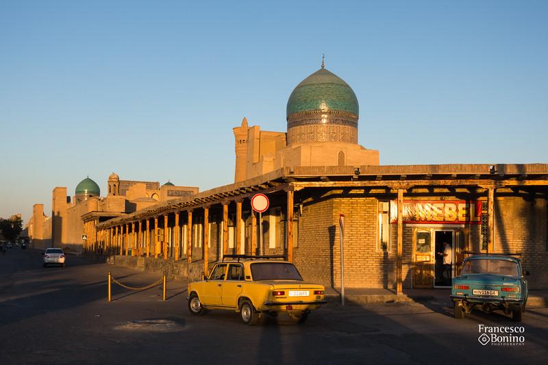 Bukhara historic center at sunset