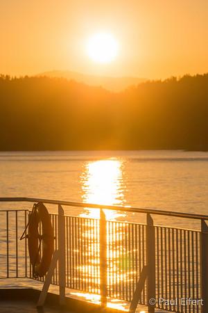 B.C. Ferry Sunset