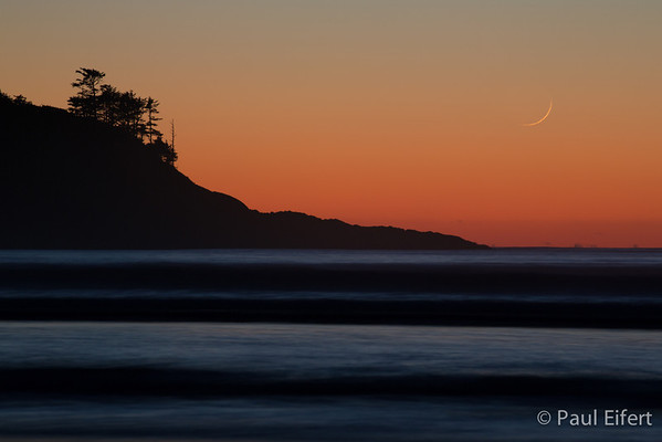 Pacific Sliver Moon