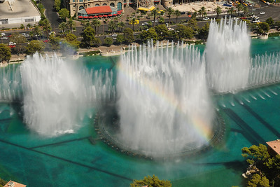 Fountains of the Bellagio during the day
