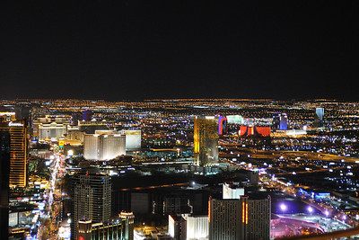 The Las Vegas skyline from the Stratosphere