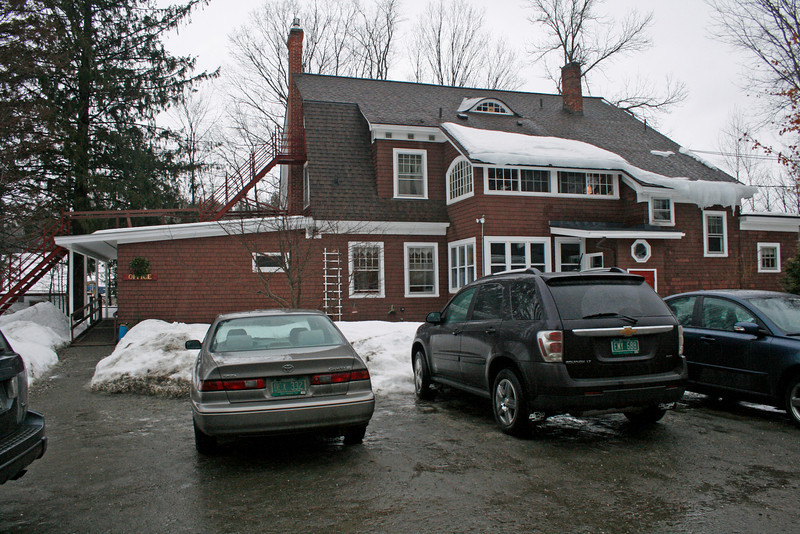 Benjamin arrival at Spruce Mountain Inn