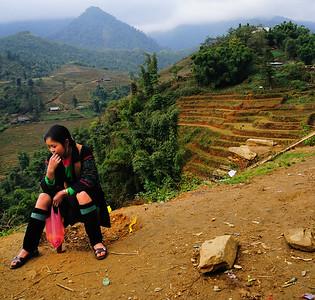 Young Black Hmong tribe girl