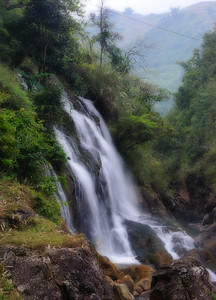 Waterfall at Cat Cat Village