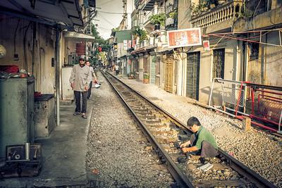 'Train street', Hanoi