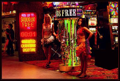 Pretty Women :-)  Freemont Street at night