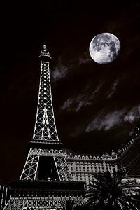 Paris at Night Las Vegas Nevada