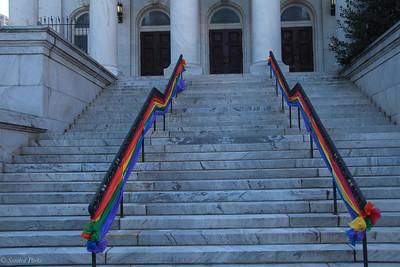 Pride decorations, Washington church