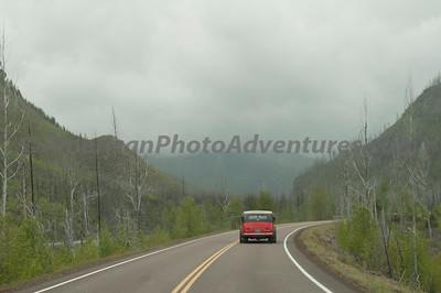 The old tour bus, Glacier NP.