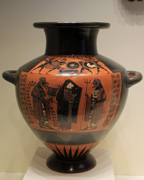 Water Jar with Dionysos and Poseidon