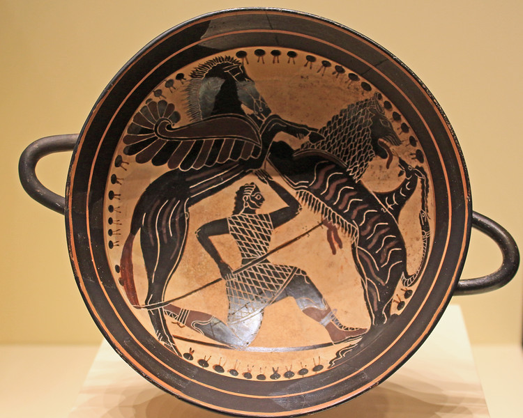 Wine Cup with Bellerophon Fighting the Chimera