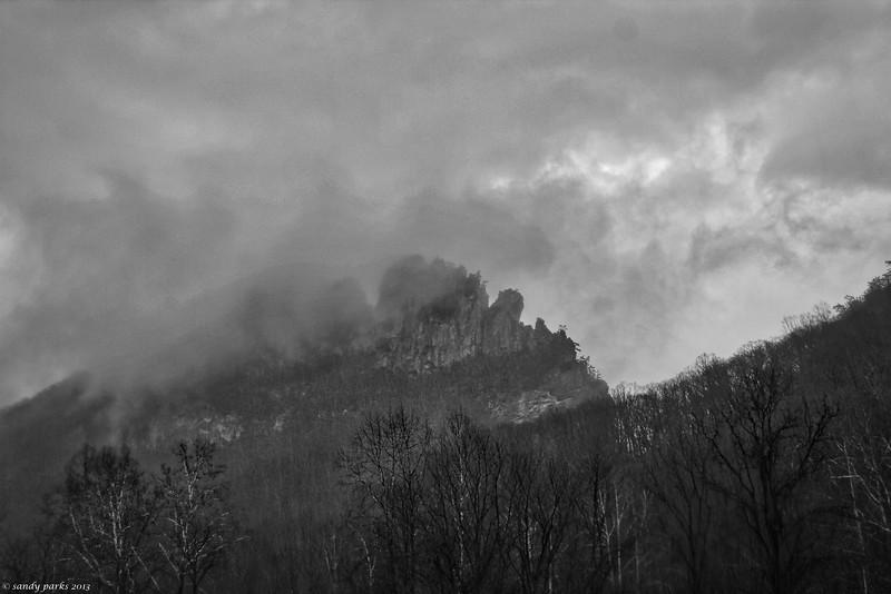 Seneca Rocks, in the mist