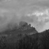 Seneca Rocks, in the mist