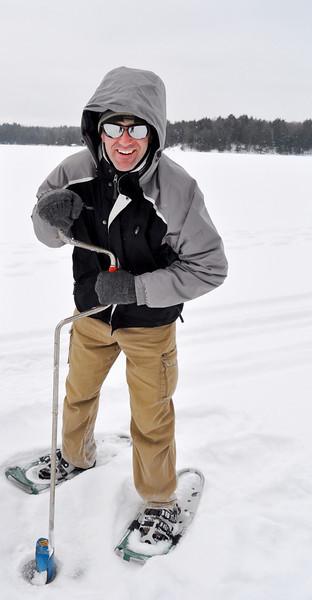Ron aurgering on ice