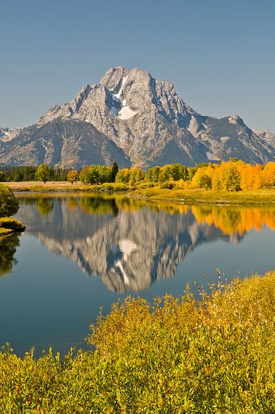 TRWY-8083: Teton Mountain reflection
