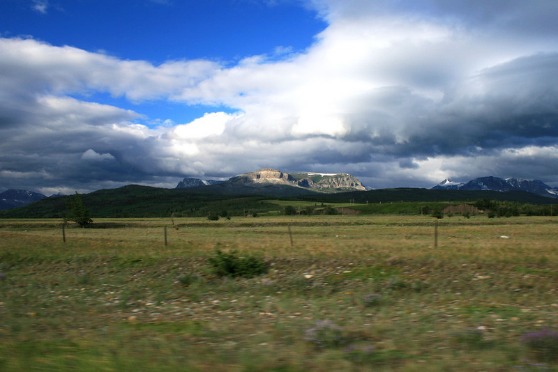 On the road to Browning, MT