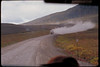 Heading back on Dempster Highway on the wide open tundra (and trucks that don't stop for anyone)