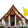 modern wihan (Phra Mongkhon bophit) housing historic bronze buddha image