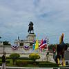 King Naresuan monument and chedi phukhao thong