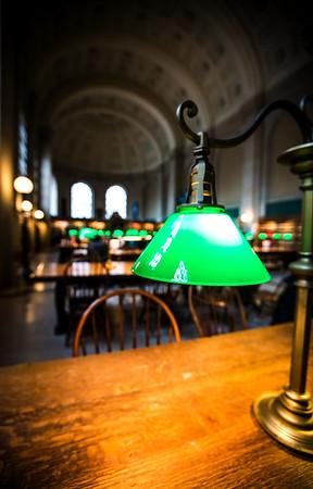 Lamp in Boston Public Library
