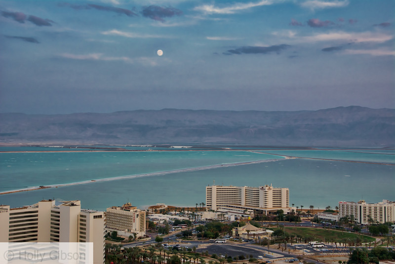 Moonrise over the Dead Sea