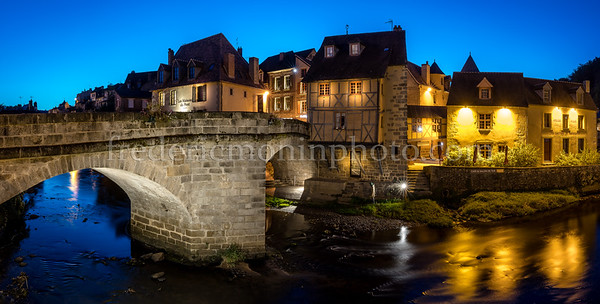 Terrade bridge and district at Aubusson in Creuse