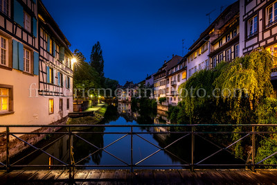 Moulins street in the Petite France district at Strasbourg