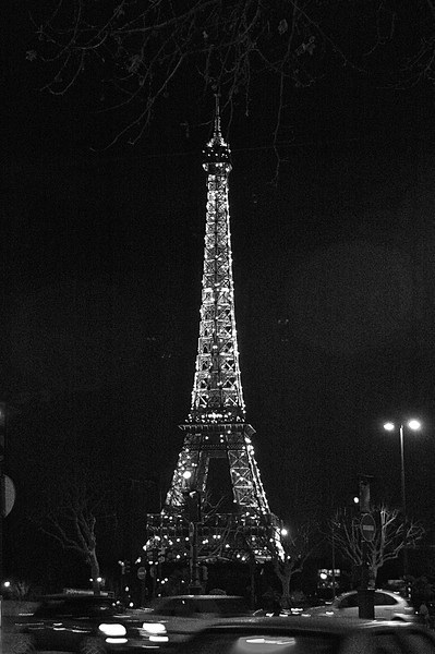 Eiffel Tower Black and White