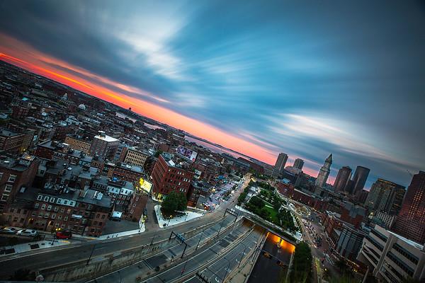 Summer Sunrise Over Boston